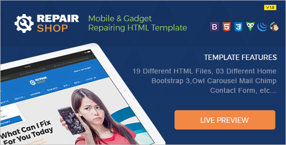 Smartphone Website Template