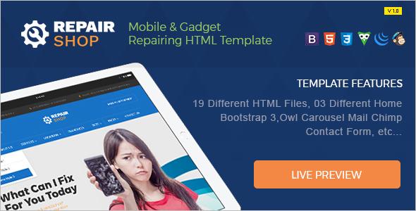 Smartphone Website Template