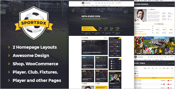 Sport Team Clubs HTML Template