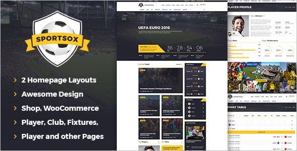 Sport Team Clubs HTML Template