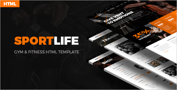Sport Life For HTML Template