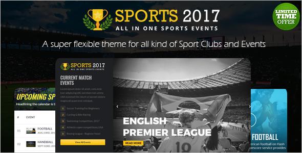 Sports Club Website Template