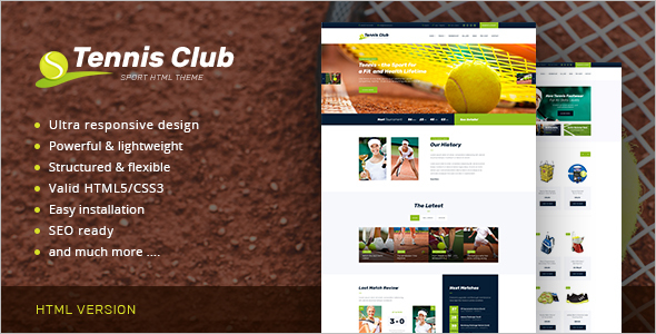 Sports & Events Site Template