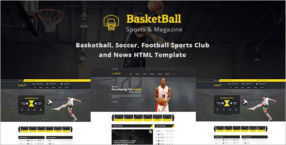 Sports Magazine HTML Template