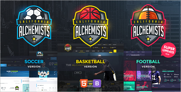 Sports News HTML Template