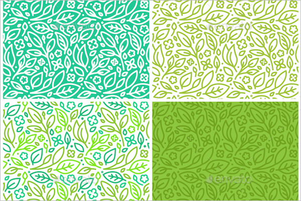 Spring Leaves Seamless Pattern