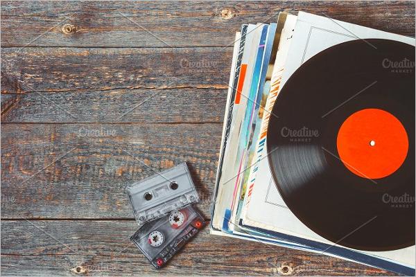 Stack of Vinyl Record Design