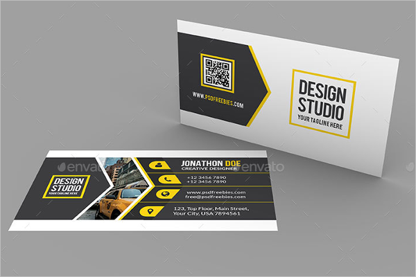 Studio Business Card Mockup Design