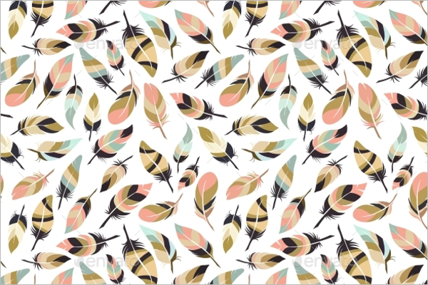 Style Feather Seamless Pattern
