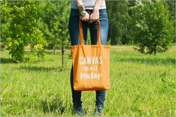 Stylish Canvas Bag Mockup
