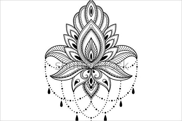 Stylish Flower Tattoo Design