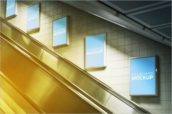 Subway Billboard Advertising Mockup Design