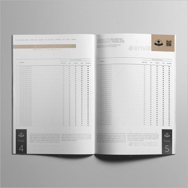 Survey of Priorities Booklet Template