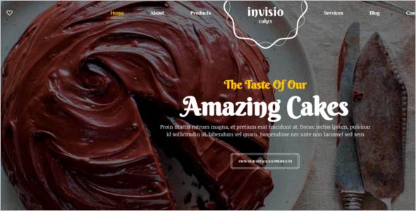 Sweet Bakery WordPress Theme