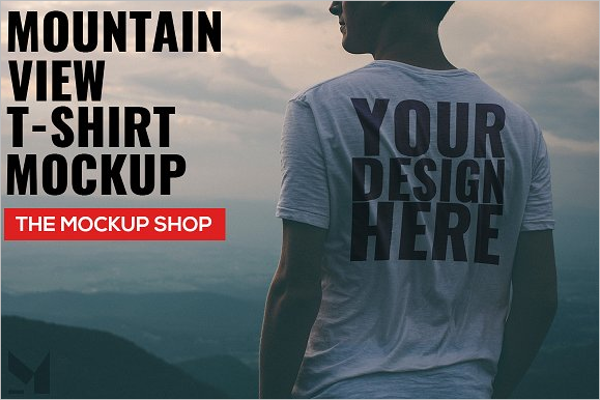 T-Shirt Mockup Vector Template