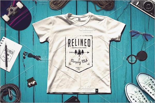 T-Shirt Set Mockup Template