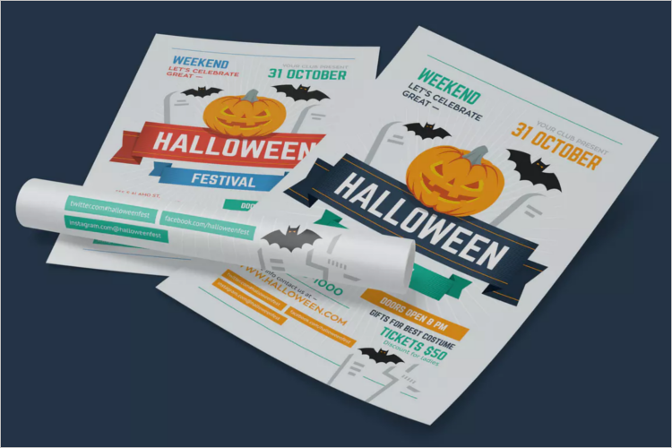 Tales Of Halloween Poster Template