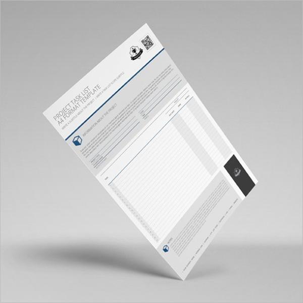 Task List Template Excel