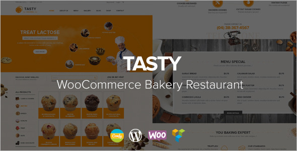 Tasty Bakery WordPress Theme