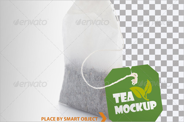Tea Bag Mockup Template