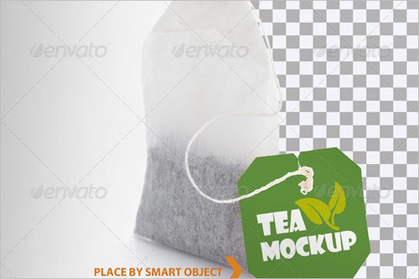 Tea Bag Mockup Template