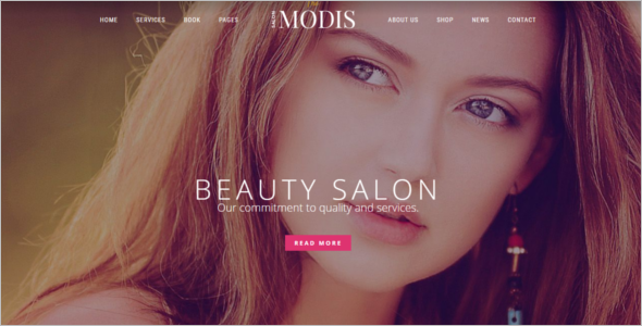 Top Salon Website Template
