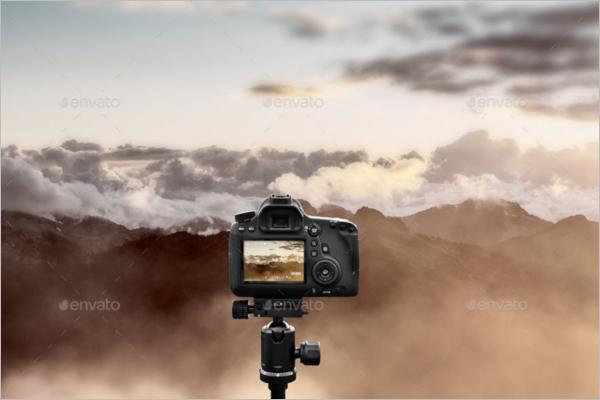 Tripod Camera Mockup
