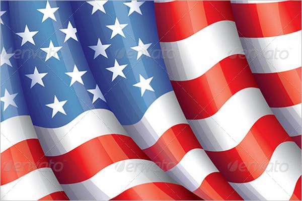 USA Flying Flag Vector