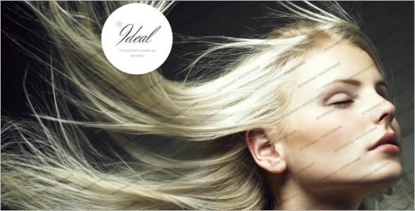 Unique Hair StyleWebsite Template