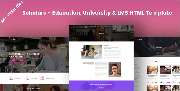 University Education HTML Template