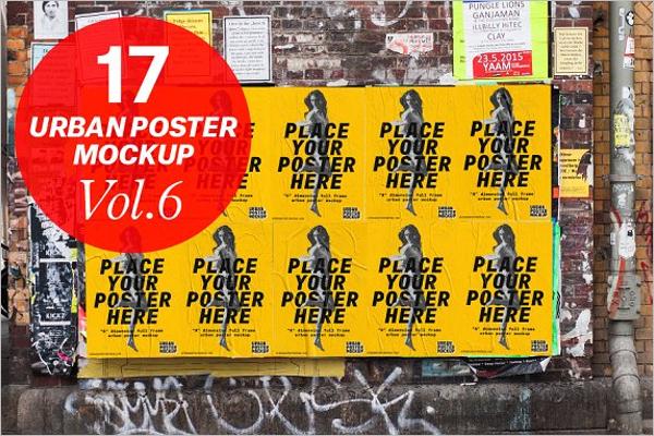 Urban Poster Mockup Design