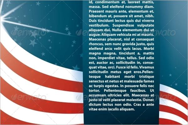Vector Background USA Flag