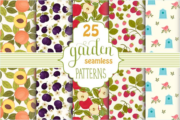 Vegetable Garden Seamless Patterns