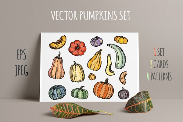 Vegetable Vector Pattern Design