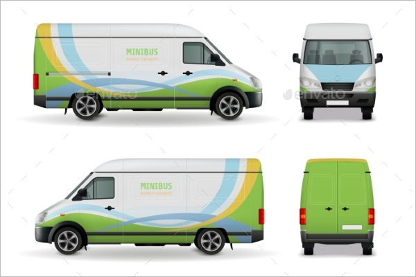 Vehicle Advertising Mockup Template