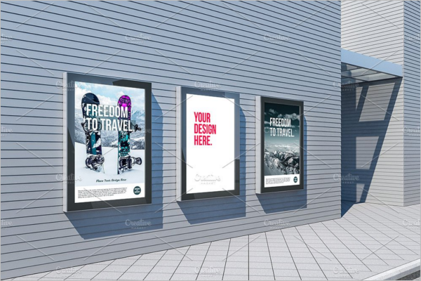 Vertical Advertising Mockup Design