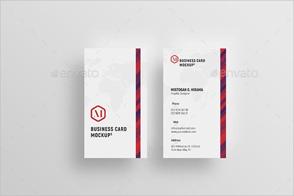 VerticalBusiness Card Mockup Design