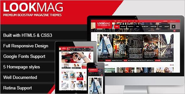 Video HTML5 Magazine Website Template