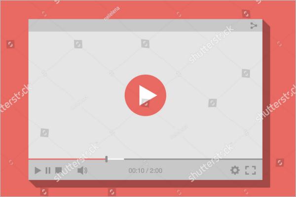 Video Mockup Illustration Design