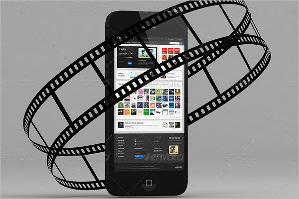 Video Phone Mockup Template