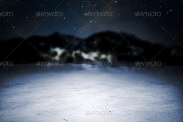 Vintage Winter Background Design