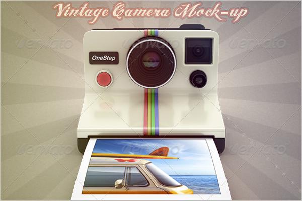 Vintage Camera Mockup Design