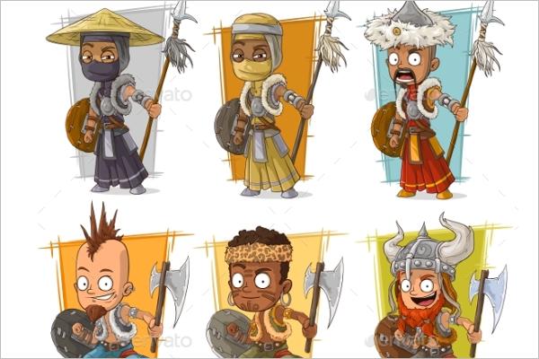 Vintage Cartoon Warriors