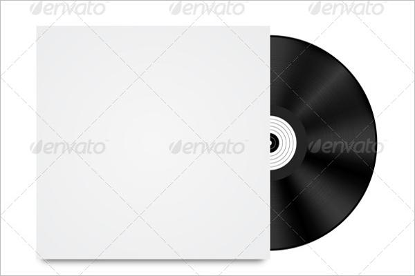 Vinyl Disk Design PNG