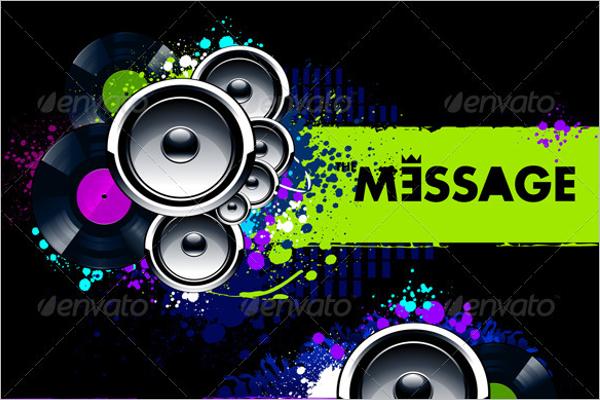 Vinyl Musical Banner Design