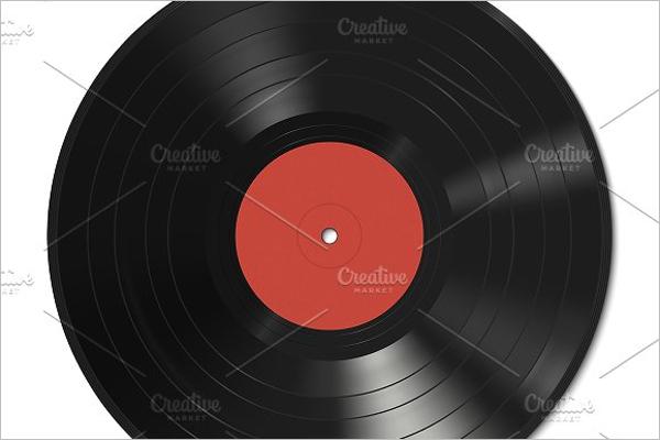 Vinyl Record Illustration Design