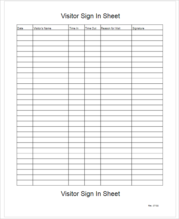 67 sign in sheet templates free pdf excel documents. Black Bedroom Furniture Sets. Home Design Ideas