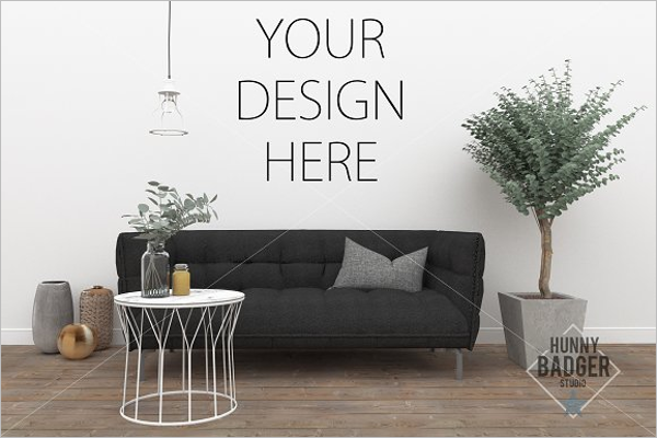 Wall Art Mockup Template