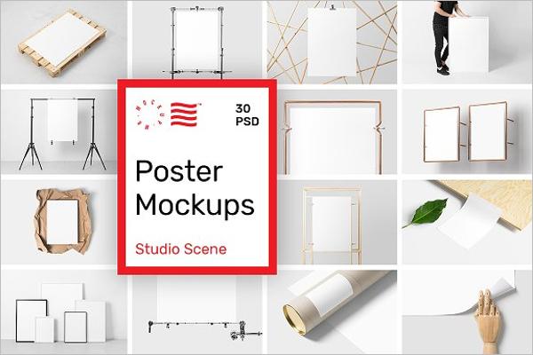 Wall Poster Mockup Design