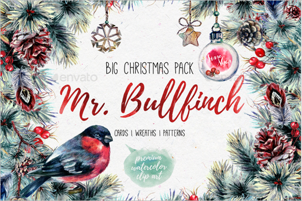 Watercolor Christmas Scenes Design